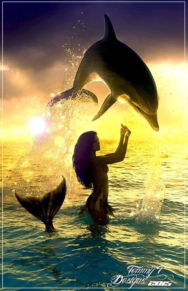 Красивые картинки русалок и дельфинов