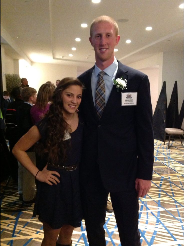 Karlie and Mike Glennon- Quarterback from the Tampa Bay Buccaneers.  Both were inducted into the NOVA Football Hall of Fame.  Www.kardobykarlie.com