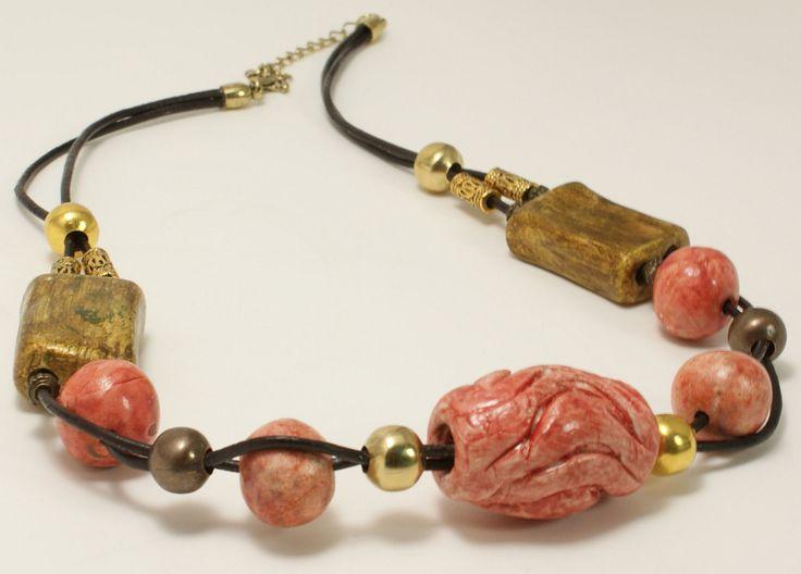 collana in ceramica artigianale di ITALDESIGNFOGLIARO su Etsy