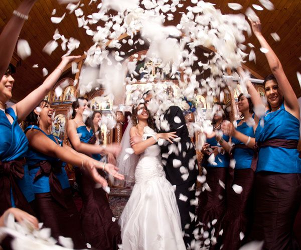 Create A Dramatic Exit And Great Photo Op With Tons Of Flower Petals