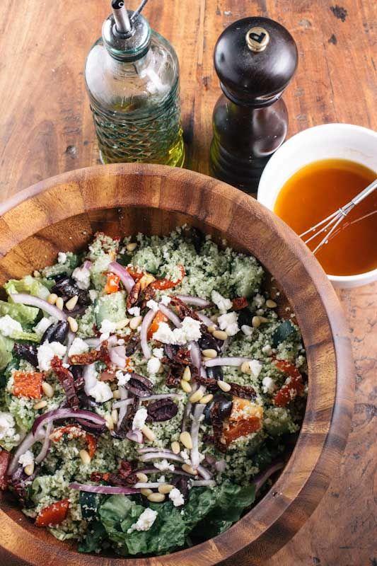 "Cauliflower ""Rice""/""Couscous"" Greek Salad"