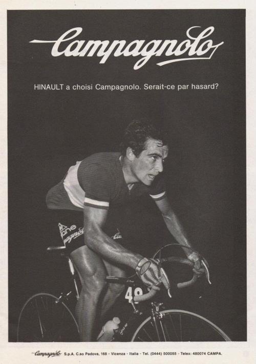 Vintage Campagnolo advert #hinault #campagnolo