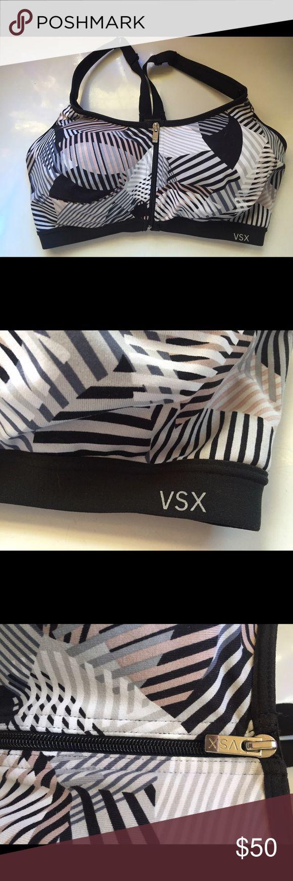 Vsx knockout sport bra like new  36 DD zip close Vsx knockout bra like new! Really beautiful piece just doesn't fit me. :( Victoria's Secret Intimates & Sleepwear Bras