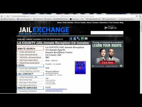 LA County Jail Inmate Search - LA Booking - YouTube