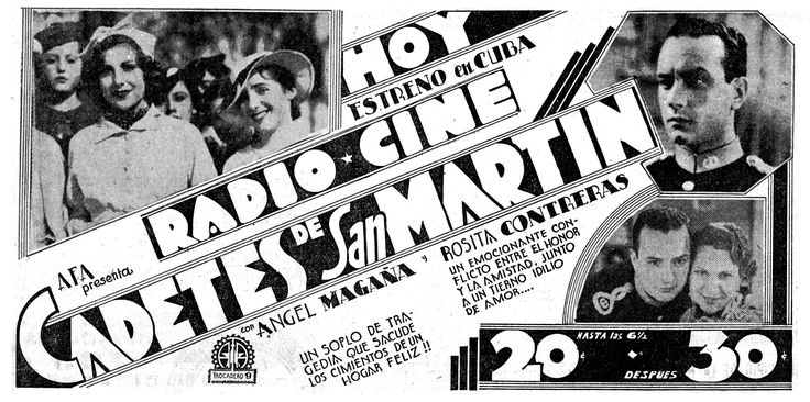 1937 - CADETES DE SAN MARTIN - Mario Soffici - (DIARIO DE LA MARINA, Jueves 5 de Marzo de 1937)