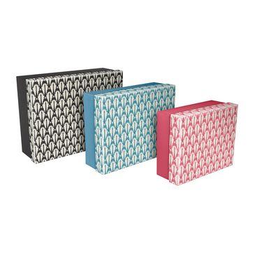 CAKES 7 | Set de 3 boites gigognes rectangulaires 44 x 34 x 16 cm - Les Cakes de Bertrand - Collections - Clairefontaine - Fournitures scolaires, artistiques et bureau