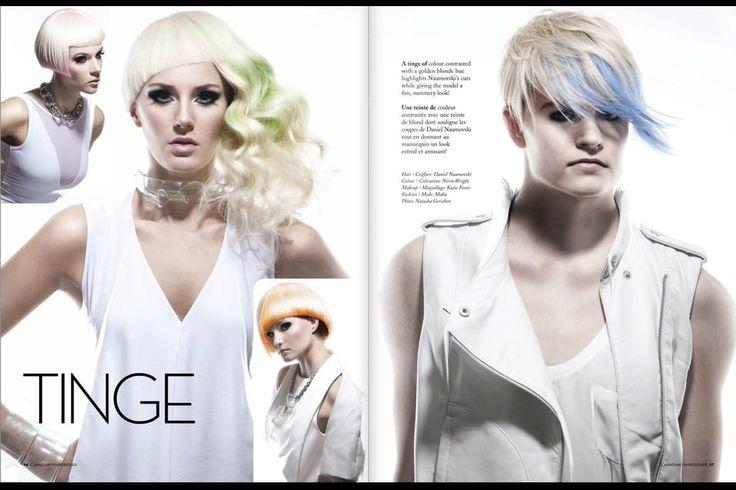 Hair: Daniel Naumovski Makeup: Katie Foster Models: Sutherland Models Photographer: Natasha Gerschon