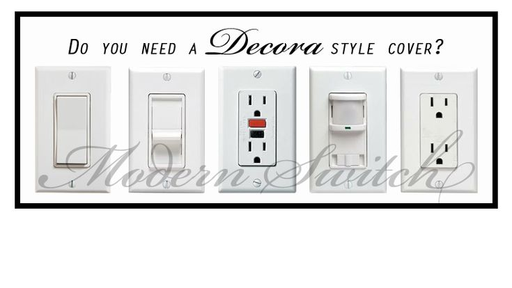 Decora style covers fit a large variety of switches and outlets. Commonly used for Dimmer, Rocker, GFI Outlets, GFCI outlets, Night lights and more! Most of my patterns are available in this style.