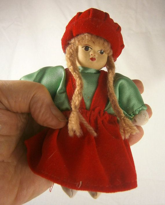 Miniature Vintage Doll In Western European Costume by Eklektibles