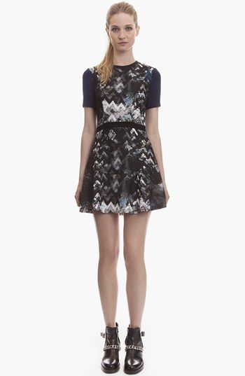 sandro 'Relief' Geometric Print A-Line Dress | Nordstrom