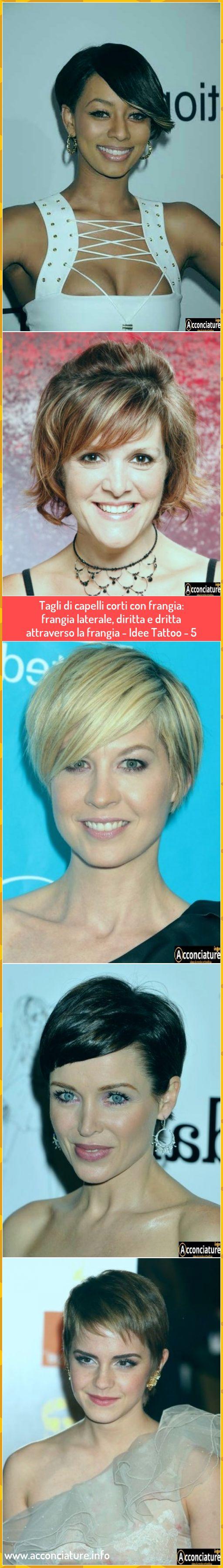 Tagli di capelli corti con frangia: frangia laterale ...