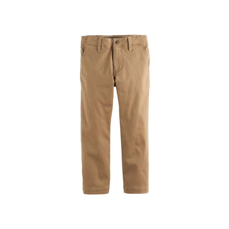 Boys 4-7x Lee Dungarees Slim Fit Original Khaki Pants, Size: 7X Slim, Beig/Green (Beig/Khaki)