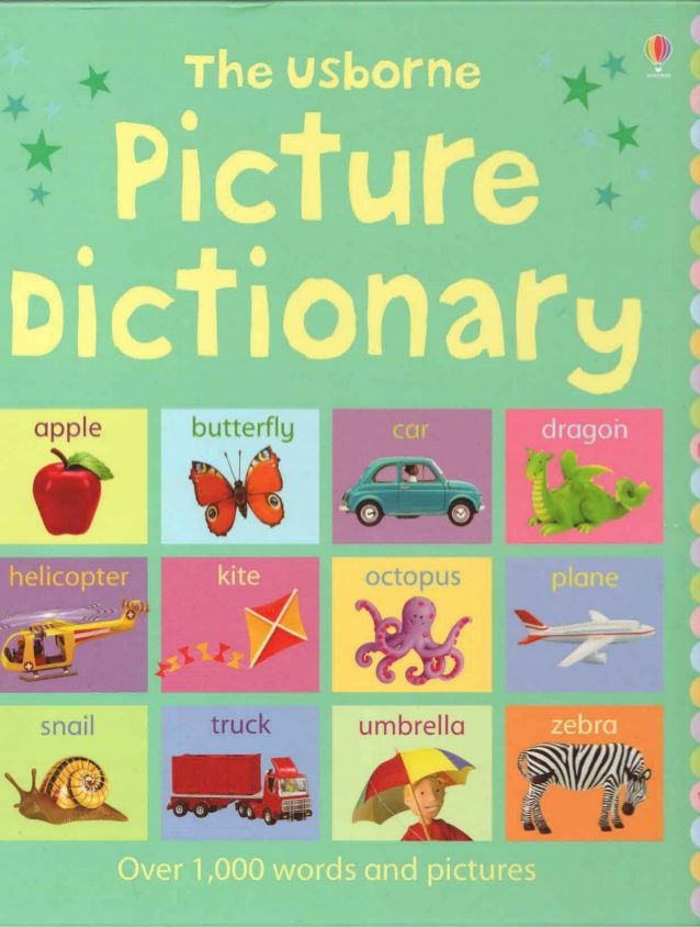 English picture dictionary from A to Z free to download in