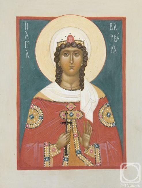 """Смирнова Агния. Икона """"Святая Варвара"""""""