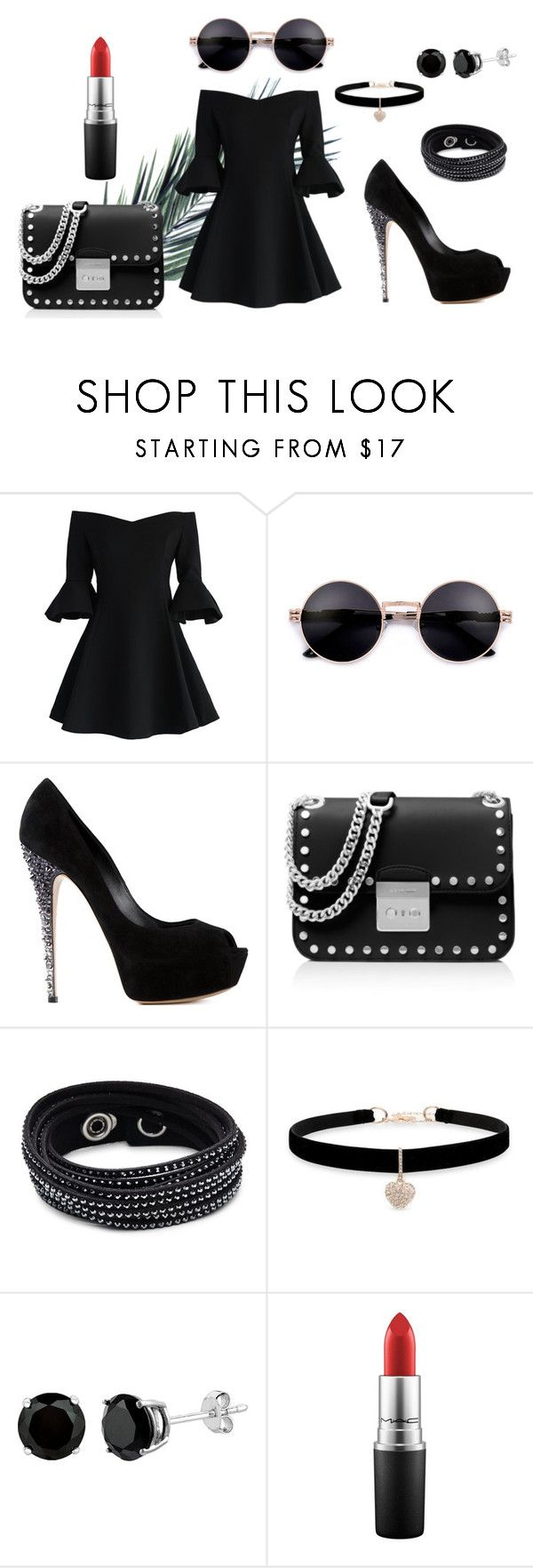 cool by ingridlundevall on Polyvore featuring Chicwish, Casadei, MICHAEL Michael Kors, Swarovski, Betsey Johnson and MAC Cosmetics