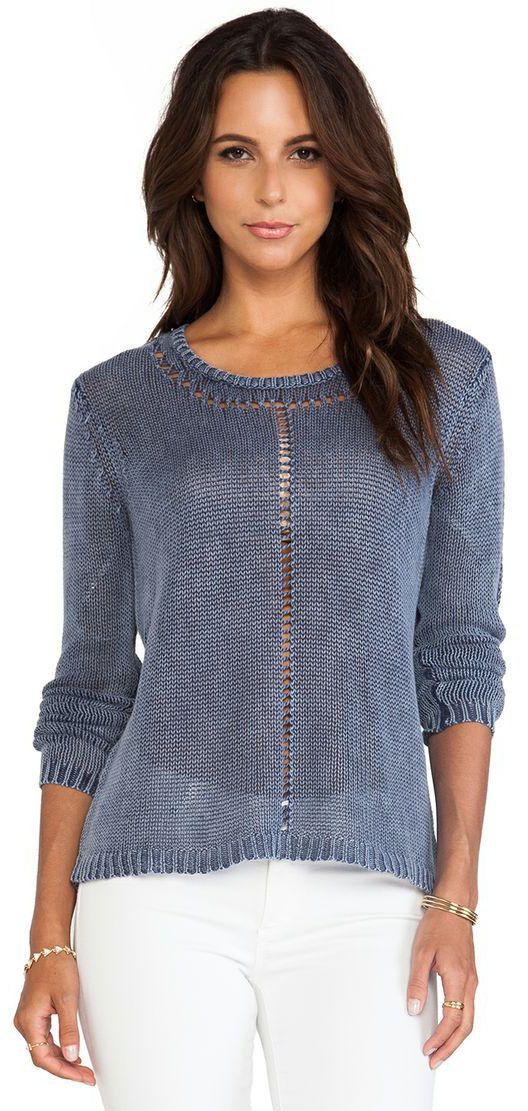 Boatneck Sweater in Escapist ♪ ♪ ... #inspiration #crochet #knit #diy GB http://www.pinterest.com/gigibrazil/boards/