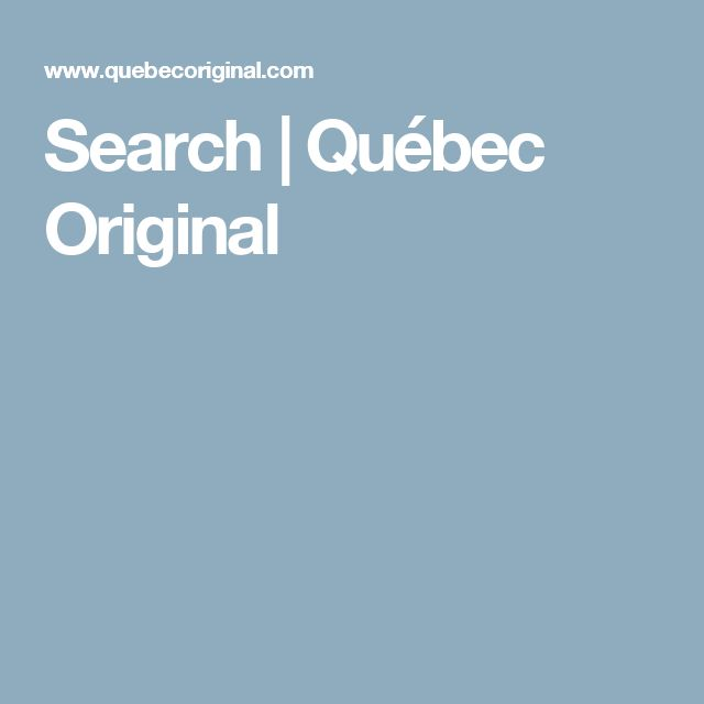 Search | Québec Original