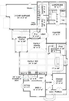 The Vickery House Plan Two Story Luxury Tuscan Style custom floor plan home building | Elegant House Plans