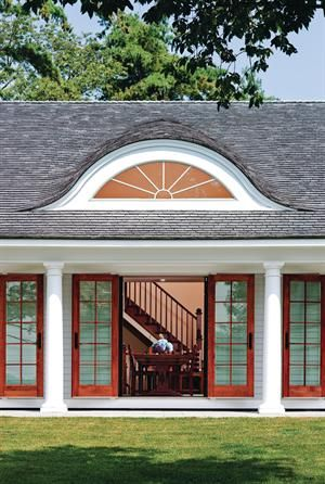 This large eyebrow dormer is stunning.