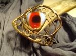 Murano glass & antique copper wire