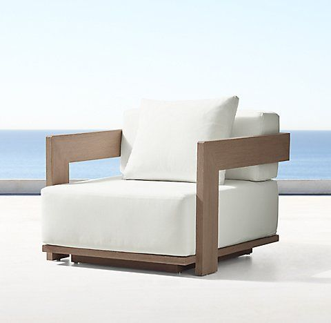 White Leather Sofa Milano Collection Weathered Teak RH