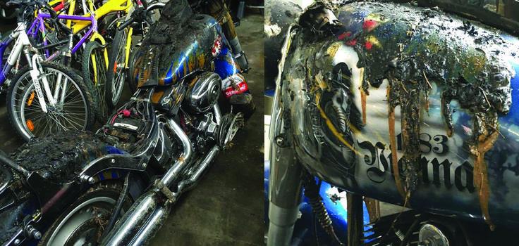 Muzułmanin podpalił Harleya z polskimi symbolami narodowymi