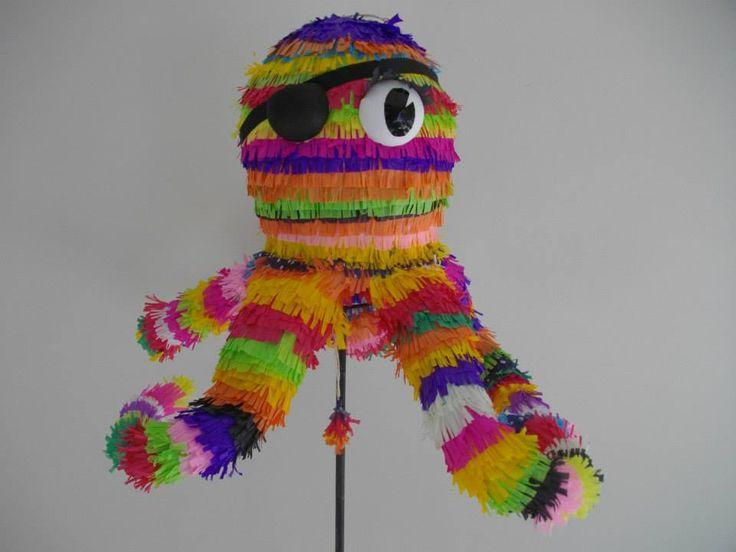 Pulpo Pirata- Pirate Octopus Hand Made- Piñata