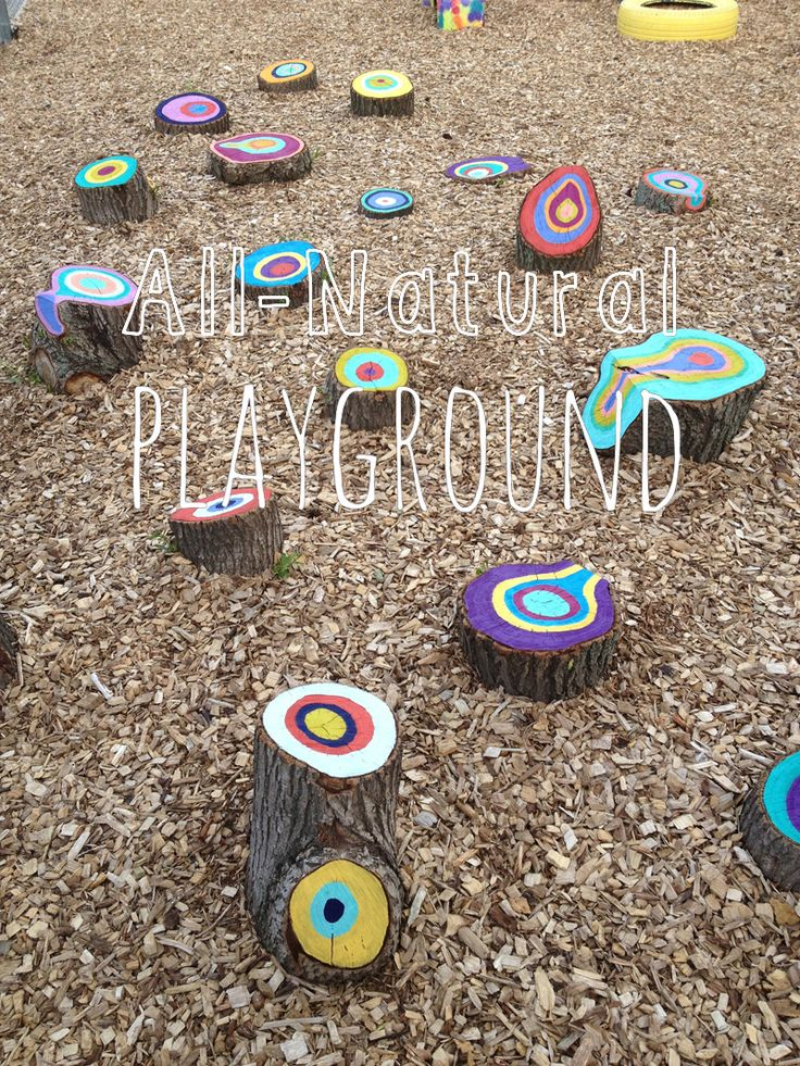 Colorful All-Natural Playground