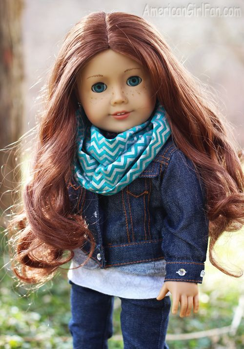 Easy DIY for this super cute American Girl Doll Accessory. How to Make a Doll Infinity Scarf!