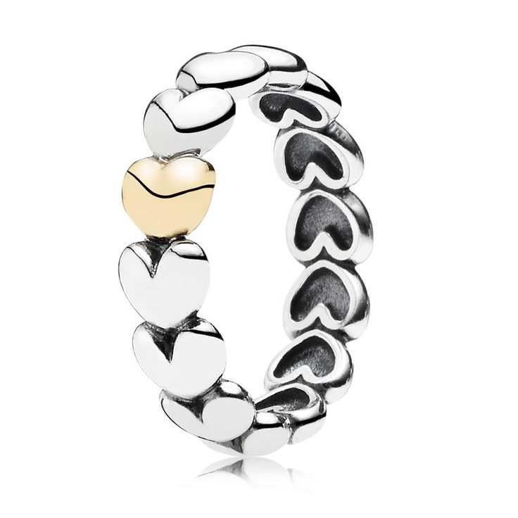 PANDORA My One True Love with 14K Stackable Ring - Pancharmbracelets.com