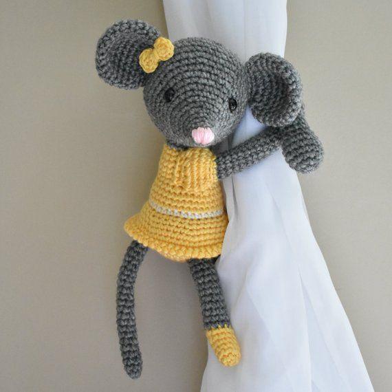 Animals Curtain Tie Back Window Curtain Tie Back Nursery Crochet