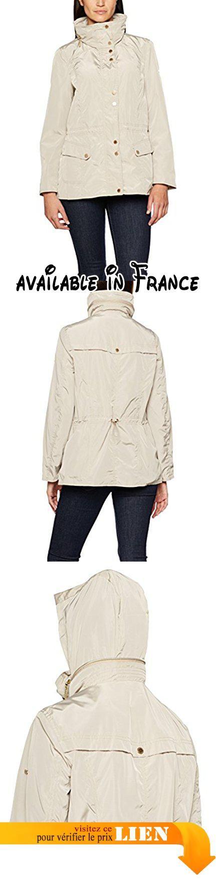 B01MZIJXSU : GINA LAURA Jacke Taillentunnelzug Umklappbarer Kragen Blouson Femme Beige (Natur 22) XXXL.