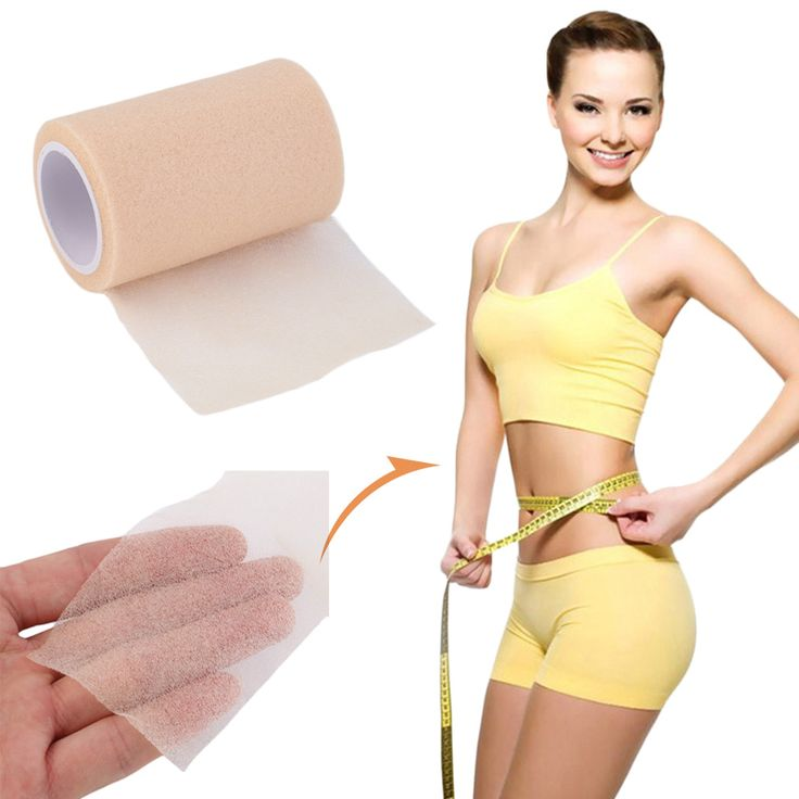 HW2016 NEW arrival  6cm*2.5m Feet Nude Foam Medical Therapy Sports Tape Bandage Body Slim #Affiliate