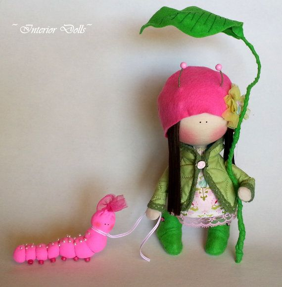 Handmade Doll-Textile Doll-Fabric Doll-Rag Doll-Soft by IntDolls