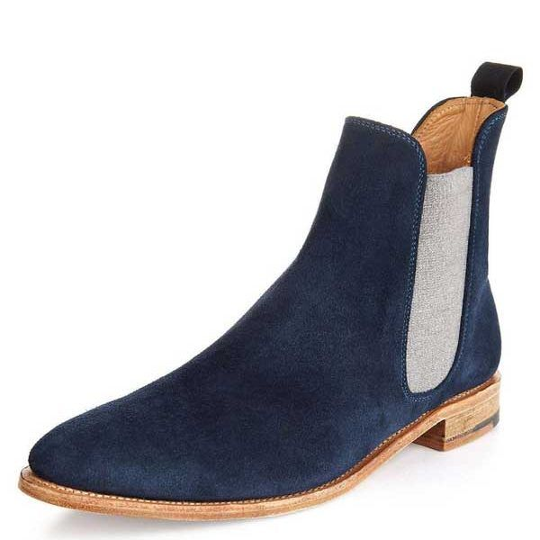 Blue chelsea boot for men  Best designing and art  Handmade shoes and boots  www.jkallleathershoes.com