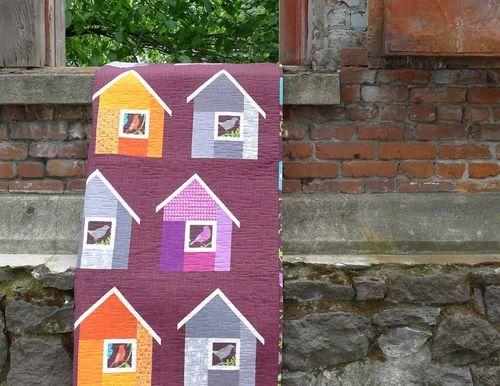 Elizabeth Hartman houses: Neighborhood Quilts, Quilts Inspiration, Fun Quilts, Book Modern, Birdhouses Quilts, Birds House, House Quilts, Quilts Ideas, Modern House