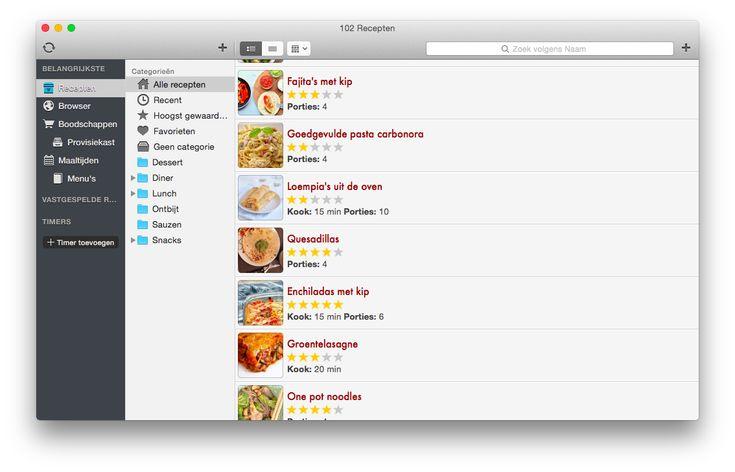 Paprika app receptenoverzicht