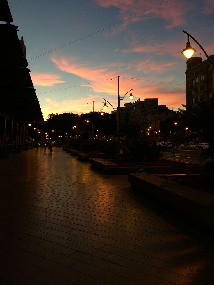 Sunset in Málaga, Andalucía