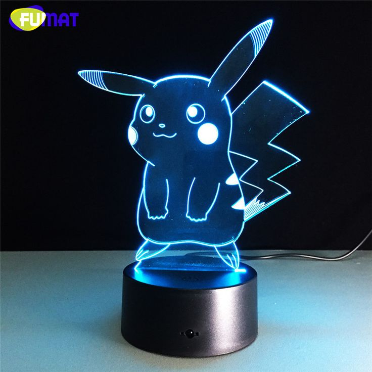 Pikachu Pokemon 3D LED Night Lamp The World Of Pokemon Go