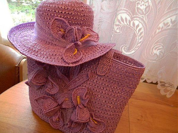 tığ işi çanta ve şapka modeli - Kadın, Giyim, Moda, Sağlık,