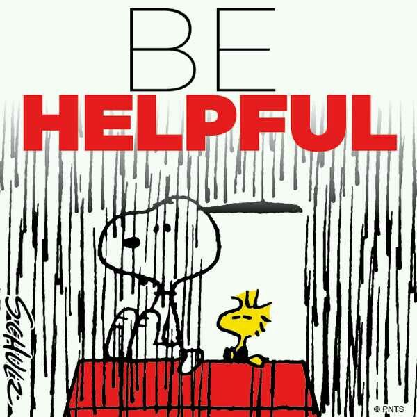 Snoopy and Woodstock: Be helpful!