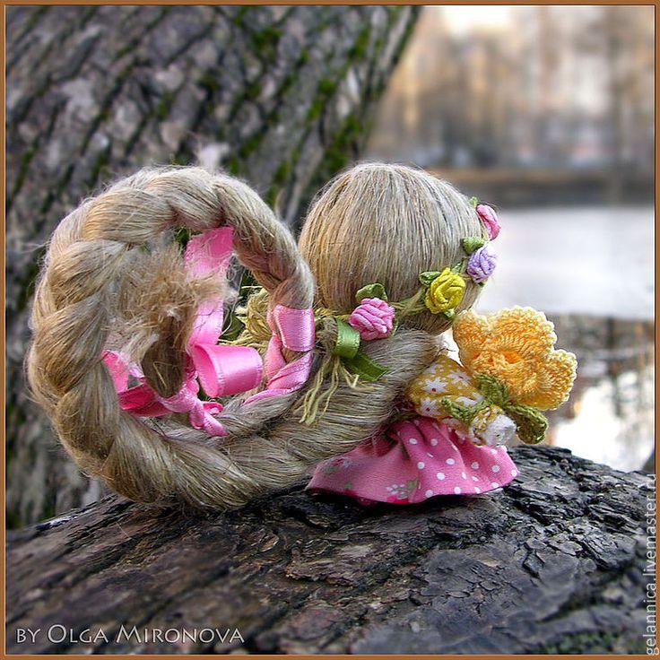 Купить Долюшка - народная кукла, куколка с косой, куколка на счастье, доля, оберег, обереги в подарок