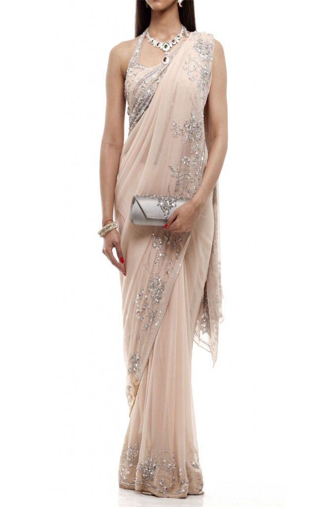 Champagne Saree Silver | Shop this at: http://www.inanna.co.in/sarees-saris?product_id=128&limit=75
