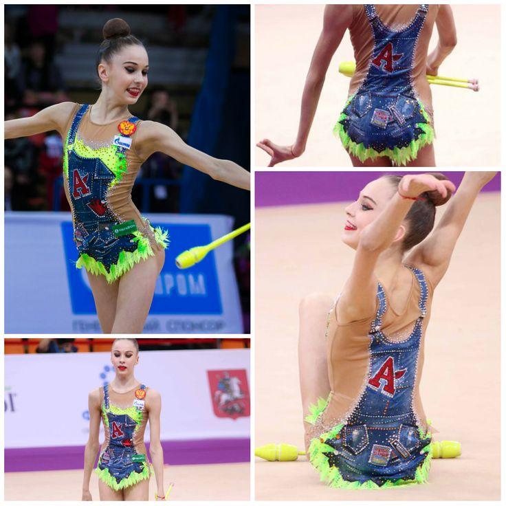 #RG leotard: Anna Sokolova (Russia), junior, clubs 2017