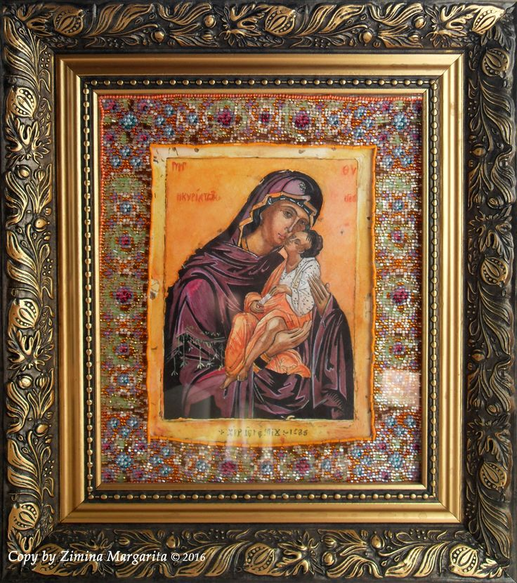 Copy of the icon of the Holy Virgin Merciful (Greece) by Margarita Zimina.  Икона Пресвятой Богородицы Милостивая (Греция). Зимина Маргарита.