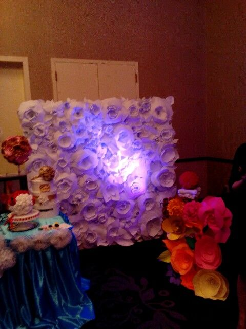 beautiful flower wall backdrop made by rituska inc rental for