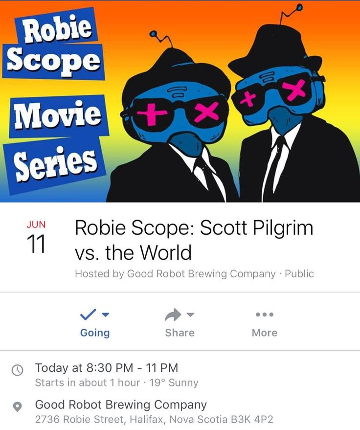 TONIGHT at @goodrobotbrew  Scott Pilgrim vs. the World Every Sunday after sunset we screen an outdoor film for your viewing and brewing pleasure. . Free admission. Please note that the screening times may change with the setting of the sun and our neighbours' prayer times. Rain dates are not in effect: bad weather means no screening.  SCHEDULE . June 18 - Robie Scope Quote-Along: Romy and Michele's High School Reunion (quote-along as part of the @outeastfilmfest . June 25 - Robie Scope: The…