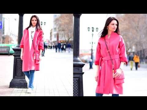 Пальто БЕЗ ВЫКРОЙКИ за один час!!! (спущенный рукав ) - YouTube