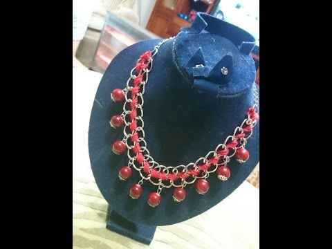 How to Make a Great DIY Necklace Idea - Tutorial - YouTube
