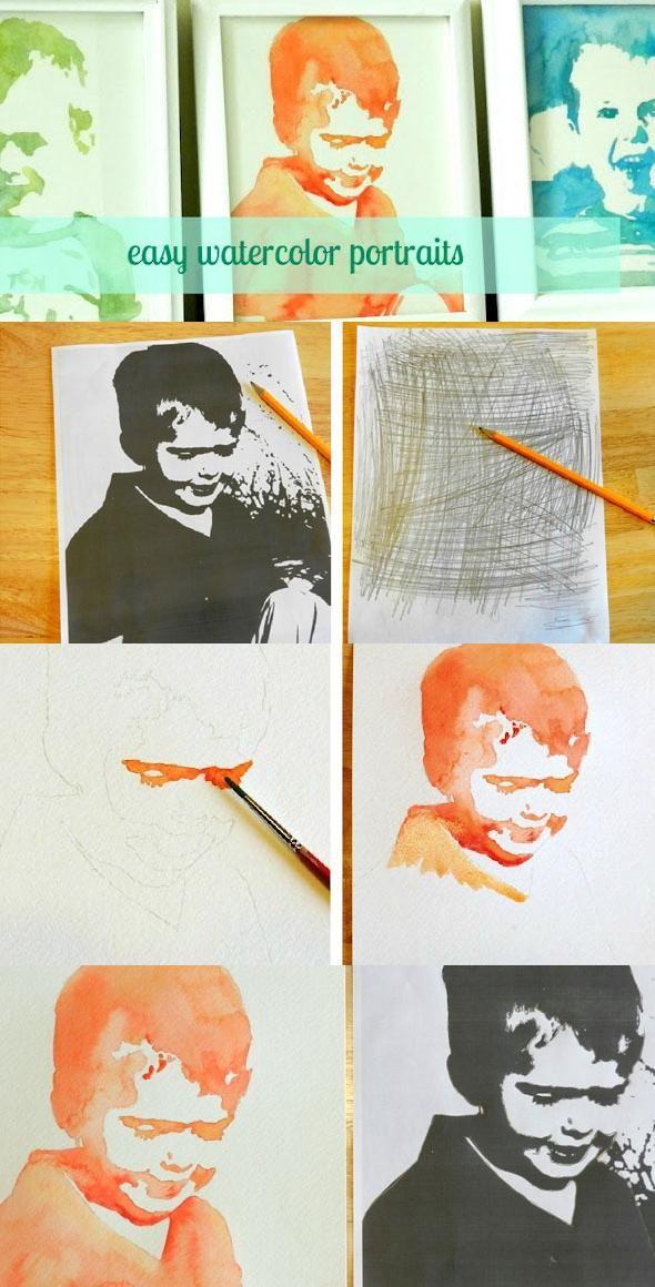 Easy Watercolor Portrait Tutorial
